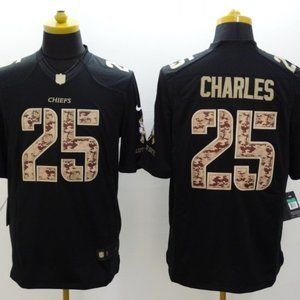 Men's Kansas City Chiefs #25 Jamal Charles Jersey